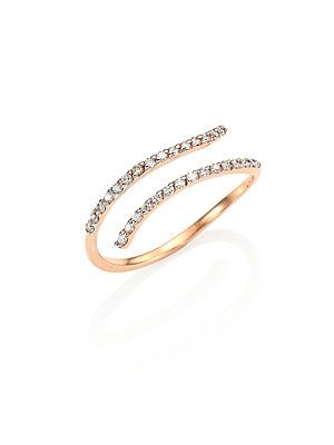 Kismet by Milka Lumiere Diamond & 14K Rose Gold Pinky Ring - Rose