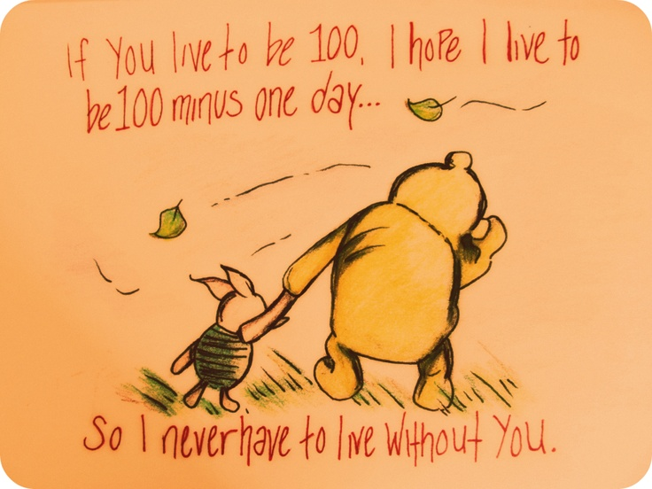 Pooh and Piglet really know what a real friend is!