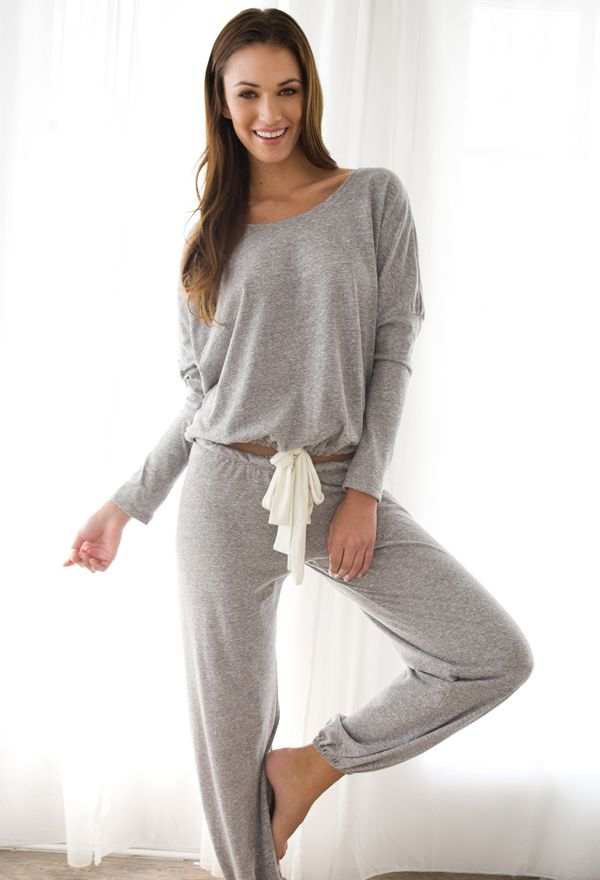 Heather Knit Slouchy Lounge Tee                                                                                                                                                                                 More