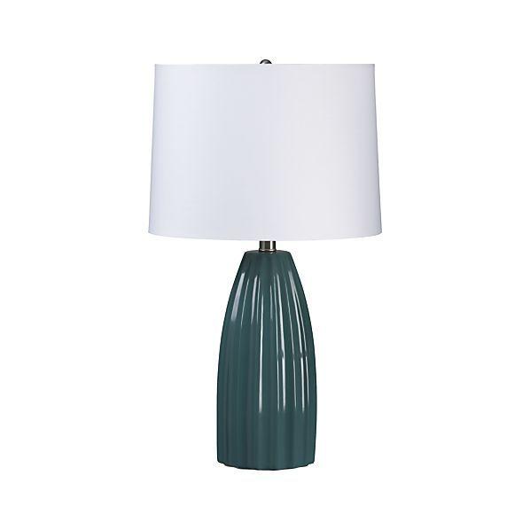 Ella Teal Table Lamp  | Crate and Barrel