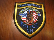 BARNSTEAD NEW HAMPSHIRE K9 POLICE PATCH