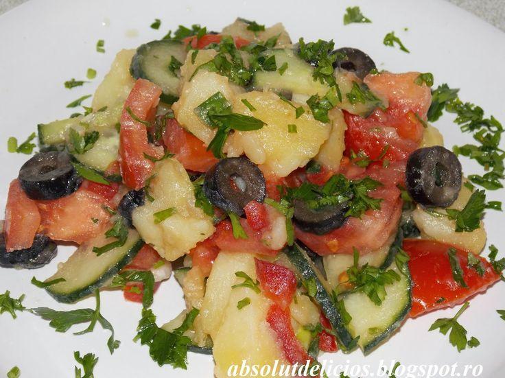 Absolut Delicios - Retete culinare: SALATA DE CARTOFI (DE POST)