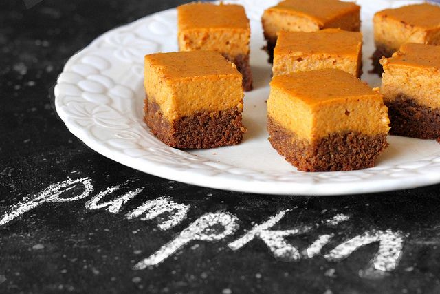 Gingersnap Pumpkin Pie Bite Ingredients:1 package gingerbread cookie dough mix, prepared per package directions (I use Betty Crocker brand)      1 can pure pumpkin, 15 ounce      1 can sweetened condensed milk      2 eggs      1 teaspoon cinnamon      1/2 teaspoon nutmeg      1/4 teaspoon ginger      1/8 teaspoon salt