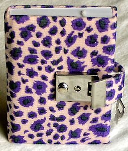 Personal Diary with Key | Teen Locking Diary Animal Print Personal Journal Lock and Key Lavender ...