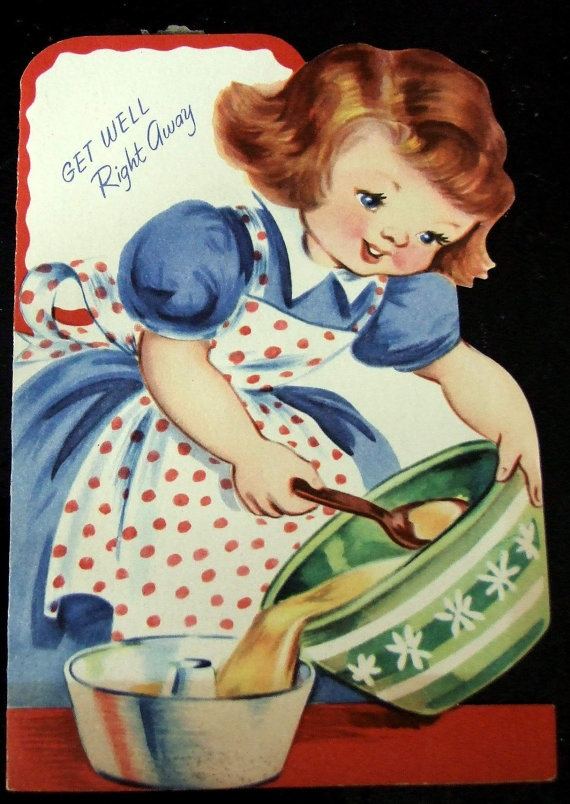 91 best get well soon images on pinterest cute kittens post vintage little girl making a cake sunshine get well greeting card m4hsunfo
