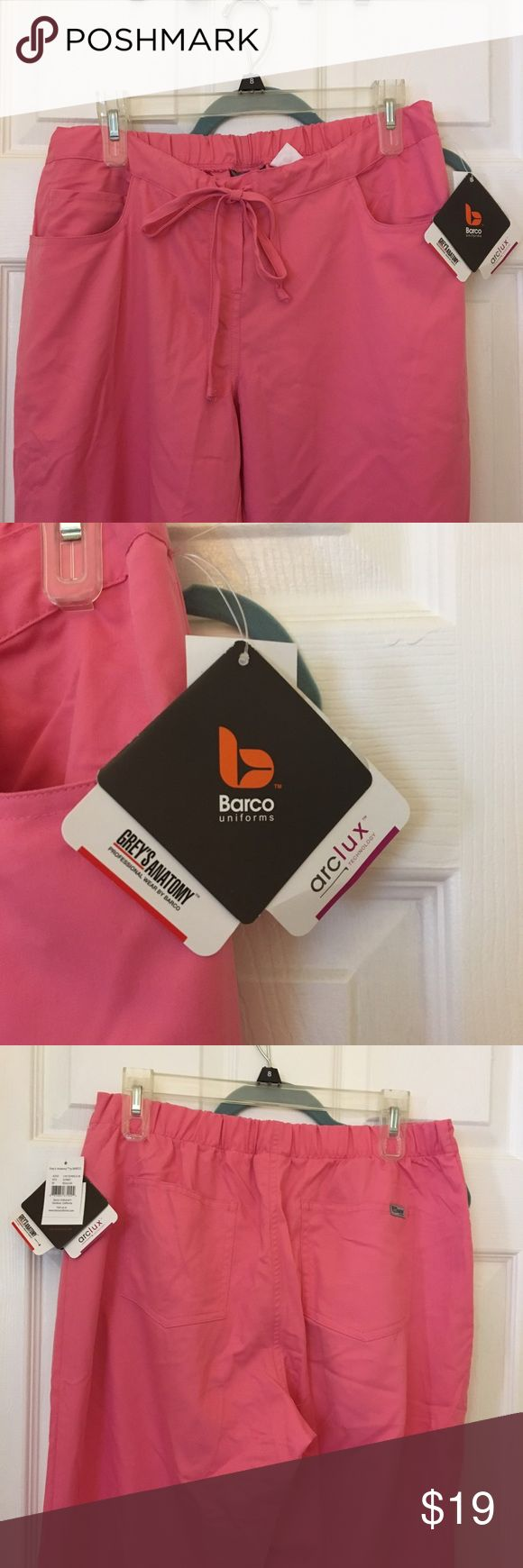 Grey's Anatomy by Barco Women's Scrub Pants Grey's Anatomy by Barco Women's Scrub Pants. Color is Sorbet Pink, size medium. 5 pocket with drawstring waist. Matching scrub top is for sale, 5% off if you bundle. Grey's Anatomy by Barco Pants