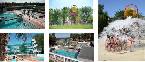 La Plaine Tonique aquatic center zwembadencomplex en outdoor base huuraccommodaties Camping verhuur cottage verhuur stacaravan Montrevel en Bresse een uur van Lyon 01 Ain Rhône-alpes
