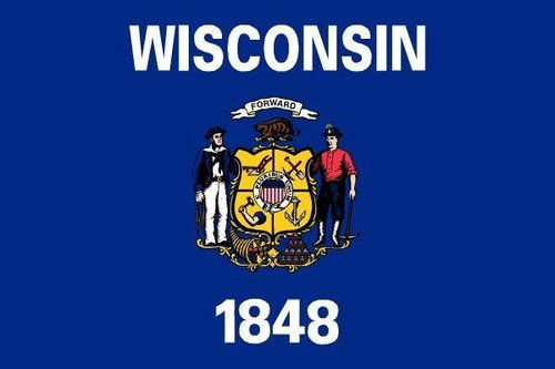 Wisconsin Flag 3.5 inch Sticker Vinyl Decal Stickers