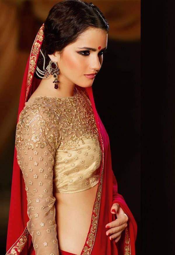 Saree blouse female domination