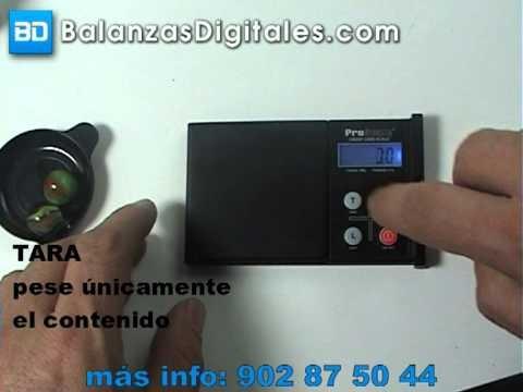 Balanza Digital ProScale Credit Card - Manual de uso y calibración -