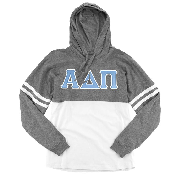 Alpha Delta Pi Spirit Jersey . Hoodie . Stitched Greek Letters