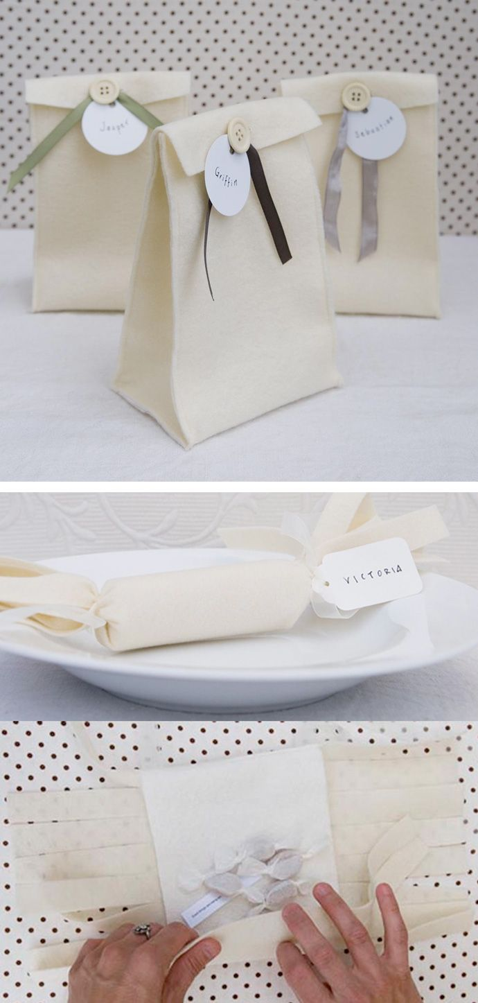 felt bags: Pi'lo's Eco-Friendly Gift Packaging