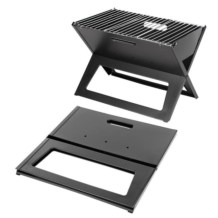 Portable Charcoal Grill Folding Small Outdoor Patio Table Top BBQ Barbecue Steel #FireSenseBarbecue