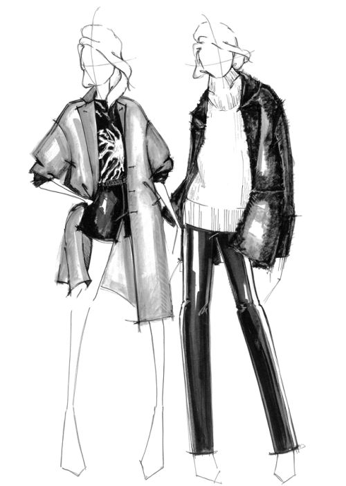 Fashion illustration - fashion design sketches // Alessandra De Gregorio