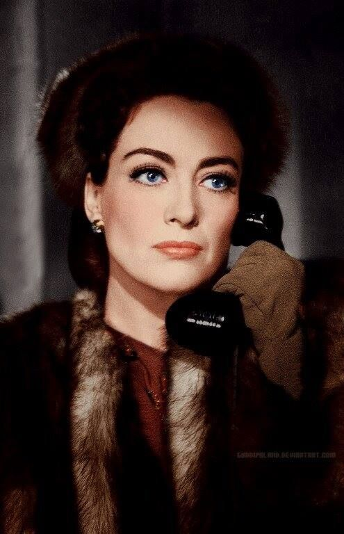 "Joan Crawford in ""Mildred Pierce"" - she won the Best Actress Oscar for her role in this film"