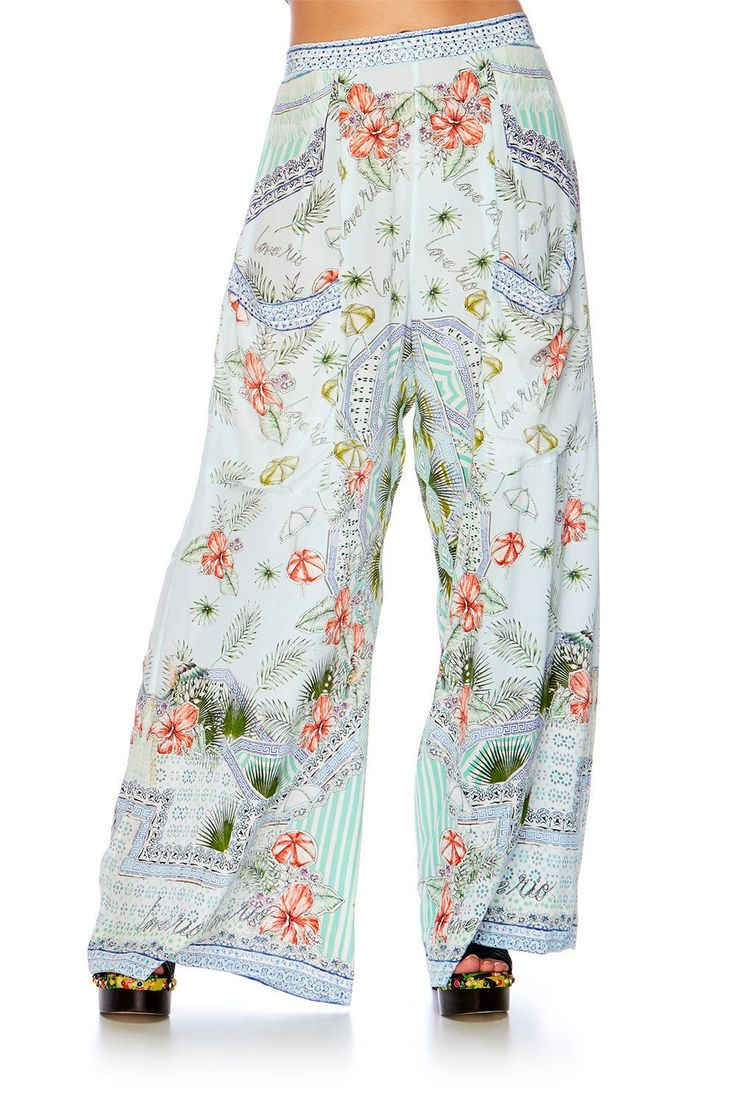 Camilla - Shades Of Rio Wide Leg Trouser