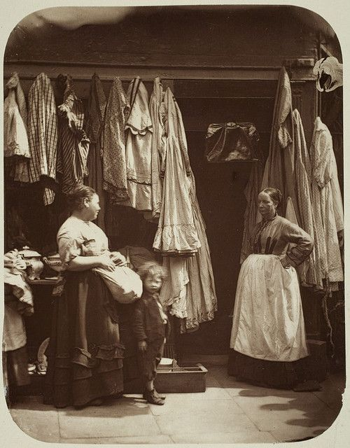 An Old Clothes' Shop, Seven Dials. Date: ca. 1876-1877 *The second hand trade has been around for centuries, I love this picture!