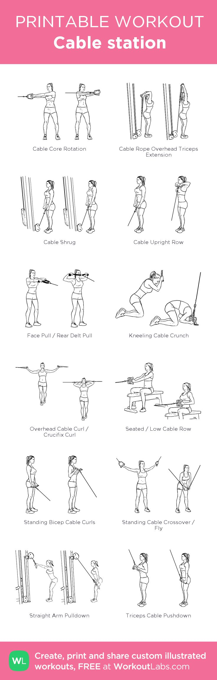cable machine chest workout