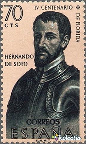 1960 Hernando de Soto stamp, Spain