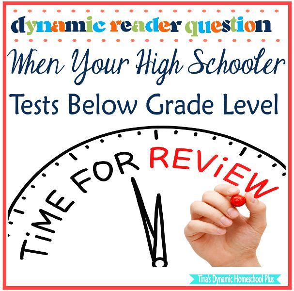 Dynamic Reader Question: When Your High Schooler Tests Below Grade Level