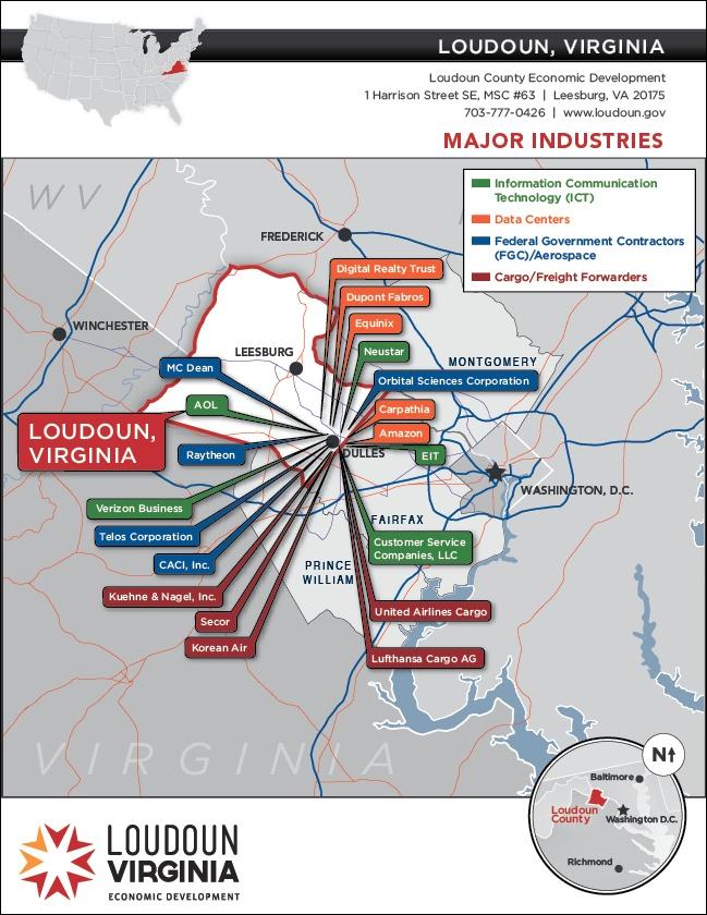 Major Industries in Loudoun County
