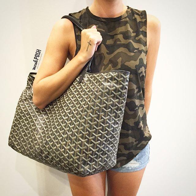 Goyard Saint Louis GM Tote just in! Call us at 813-258-8800 if you would like to purchase before it goes online! #goyard #goyardbag #perfecttote #fashion #luxury #trendy #designerhandbags #bagsofTPF #purseblog #purselover #moshposhfinds #mymoshposh #designerconsignment