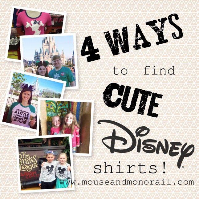 4 Ways to Find Cute Disney Shirts