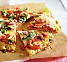 Das Rezept für Blumenkohlpizza mit Tomate und Mozzarella und weitere kostenlose Rezepte auf LECKER.de