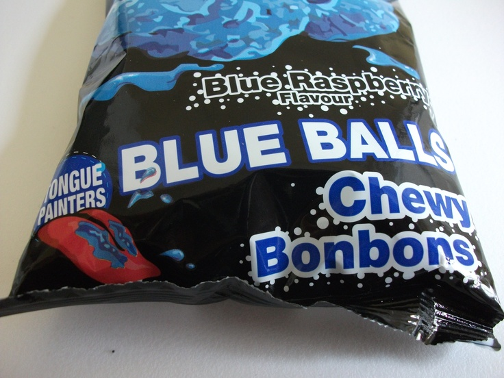 Tango Blue Balls - they turn your tongue blue!