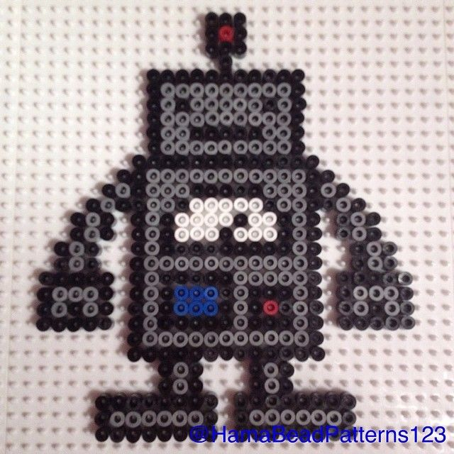Hama Bead Robot by hamabeadpatterns123