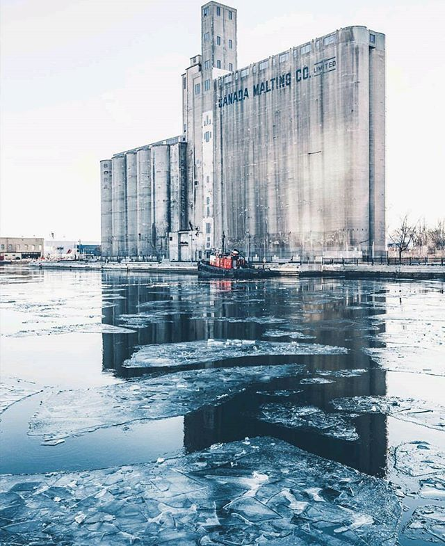 The old malting company building at the foot of Bathurst Street...