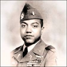 Vernon J. Baker - Medal of Honor recipient. Fought in WWII Citation: For extraordinary heroism in action on 5 and 6 April 1945, near Viareggio, Italy. Then Second Lieutenant Baker demonstrated outstanding courage and leadership in destroying enemy installations, personnel and equipment during his company's attack against a strongly entrenched enemy in mountainous terrain. When his company was stopped by the concentration of fire from several machine gun emplacements, he crawled to one…