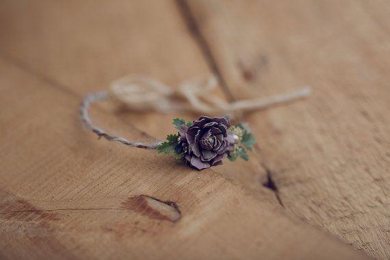 Delicate Flower Head Wreath Boho Flower Crown by Sistersandcrafts