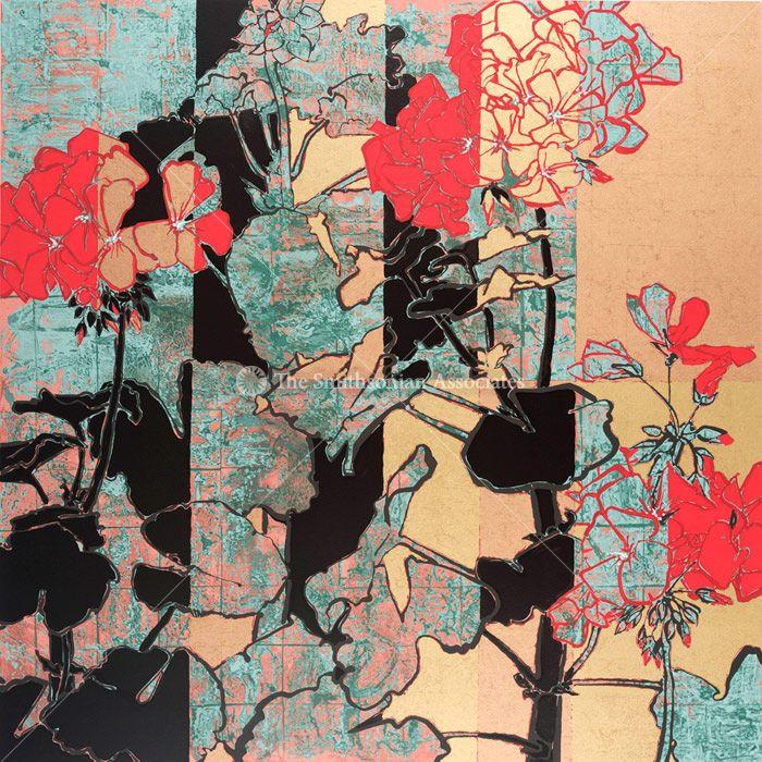 Red Geranium 2009 By Robert Kushner Paint Robert