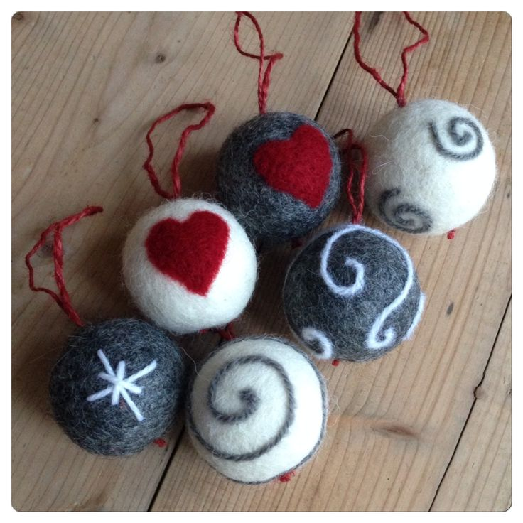 Felted balls for Christmas