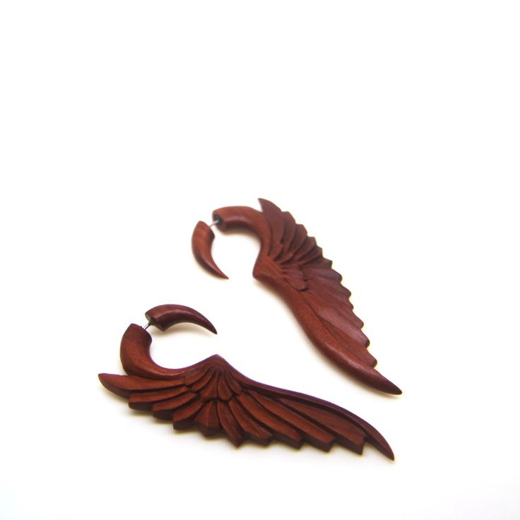 This handmade earrings will rock your day    Learn more: http://ayutribal.com/products/angel-wings-carving-fake-gauge-wood-earrings-ac028?utm_campaign=social_autopilot&utm_source=pin&utm_medium=pin  #ayutribal #urban #fashion