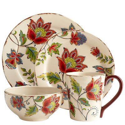 Elizabeth Dinnerware. Each piece sold separately. Very reasonably priced. Only Mugs and Bowls in stock online.