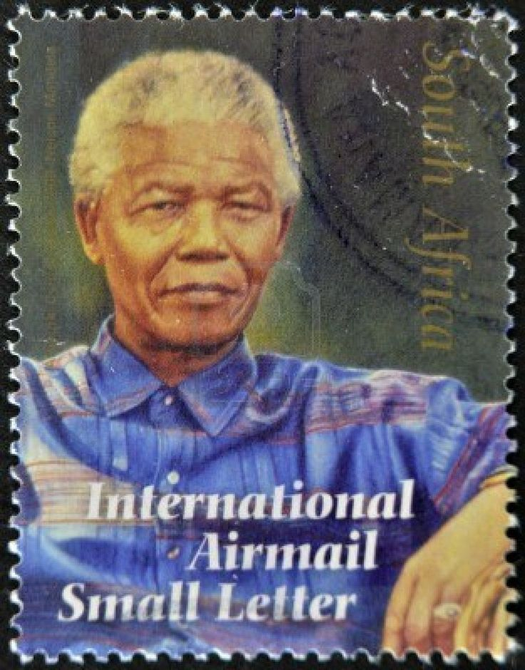 South Africa stamp depicting Nelson Mandela, ca.2008-This is not a USP Stamp, but a great pin.