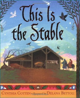 I love the story 'This Is the Stable' by Cynthia Cotten so much that I created a craft for it with my students. Click to see the Christmas craft. #nativity
