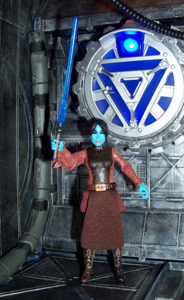 Star Wars Clone Wars Female Chiss Jedi Master Nashara Lex custom figure #StarWars
