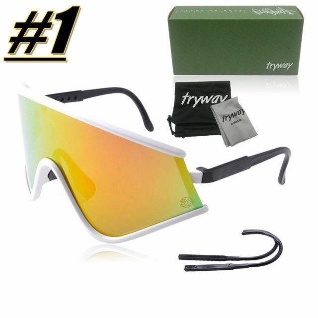 2017 classic Retro sunglasses Bike cycling eyewear sports motocross goggles oculos De sol gafas Red Fire iridium mens sunglasses