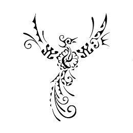 Tatuaggio di Fenice ibisco, Nuova vita tattoo - royalty-free designs on TattooTribes.com