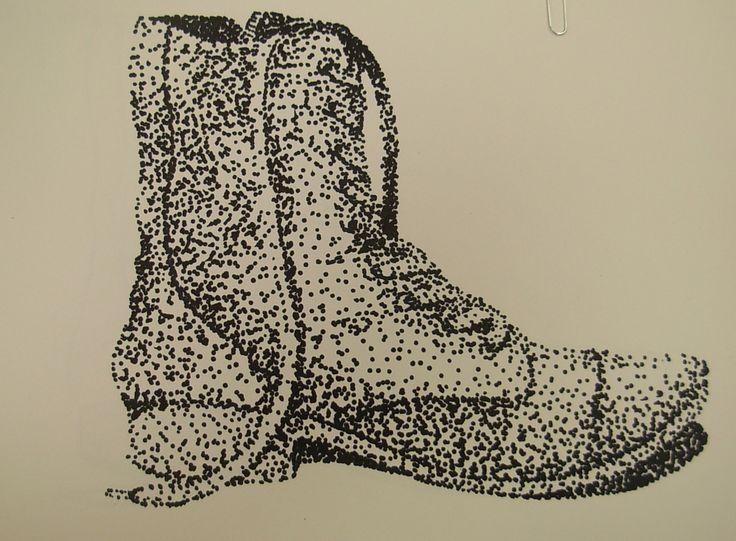Contour Line Drawing Shoes Lesson Plan : 515 best stippling images on pinterest pointillism art lessons