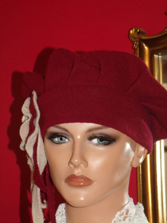 Handmade1920s Antique style Flapper Hat Red by LudasHatBoutique
