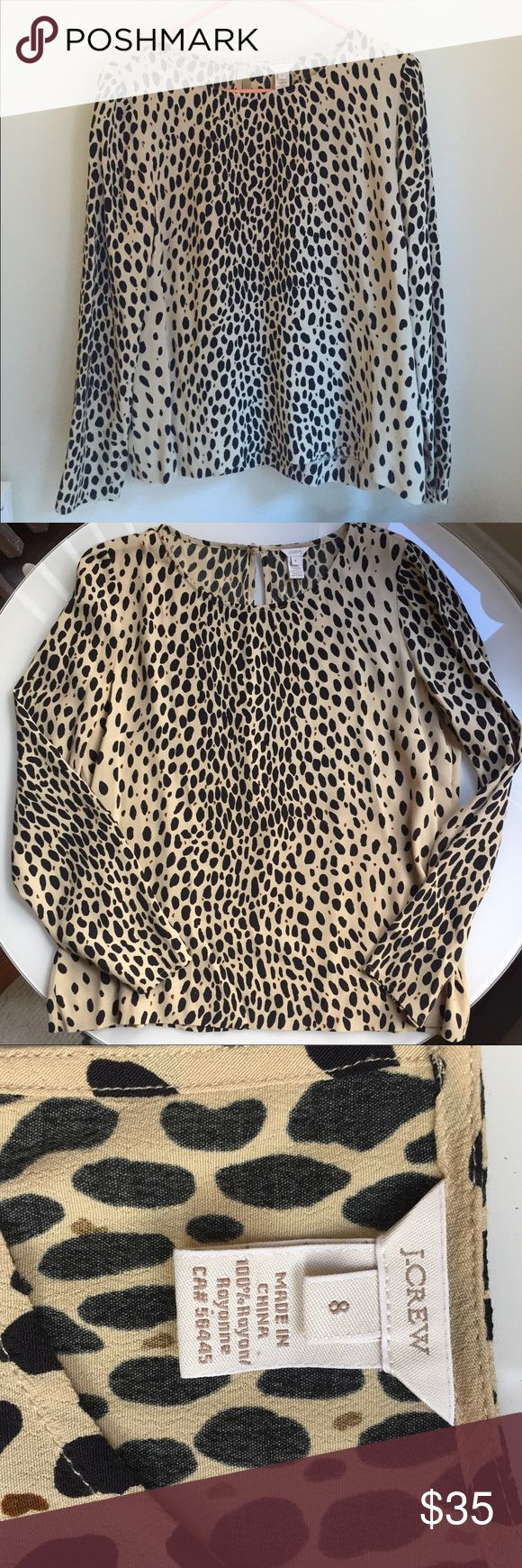 J. Crew Sassy Animal Print Blouse 🐆 Love this blouse! Animal print. Excellent used condition. Very flowy material and great for work and summer. All offers considered! Bundle and save ☺️ J. Crew Tops Blouses