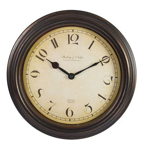Sterling And Noble Bronze Wall Clock