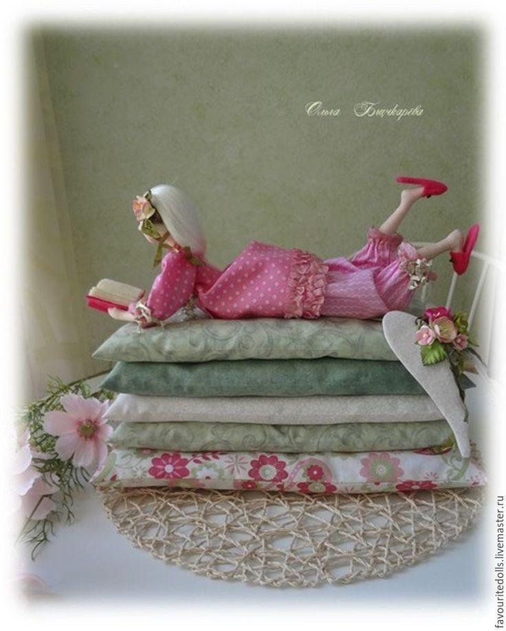"""Купить Тильда. Текстильная кукла. """" Малиновый щербет"""" - зеленый, розовы, малиновый, подарок женщине"""