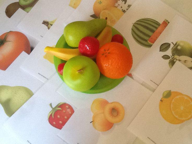 Bits en format power point, flashcards descarregables i imprimibles de fruites