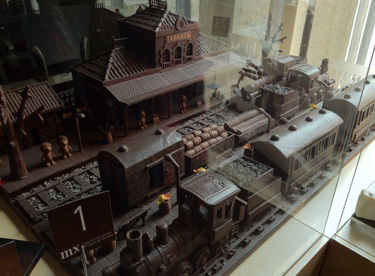 Tren de chocolate en el Museo del Chocolate de Barcelona. Impresionante!