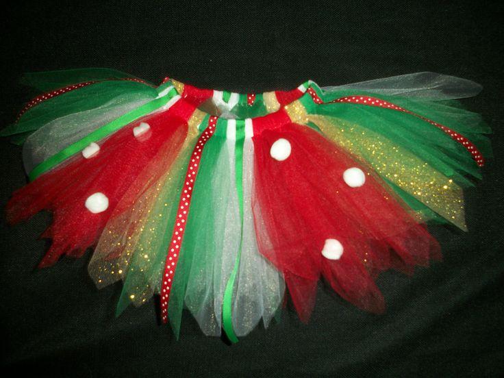 Christmas tutu Little Elf custom made any size by CatyRoseBows, $26.00